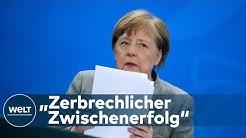 CORONA REGELUNGEN: Ab Montag können kleinere Geschäfte wieder öffnen - Merkel besorgt
