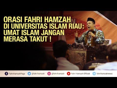 Orasi Kebangsaan Fahri Hamzah Di Universitas Islam Riau
