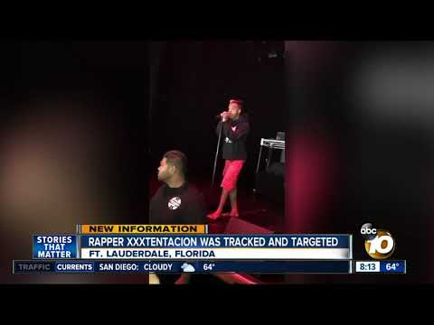 Rapper XXXtentacion was tracked and targeted