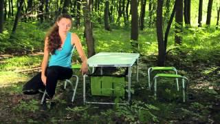 Раскладной стол со стульями ТА-484. ТМ Кемпинг(, 2013-09-13T12:03:03.000Z)