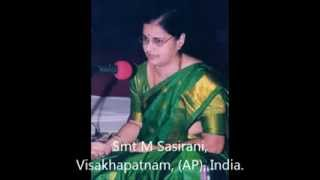 Mari Vere Dhikkevarayya - Carnatic Classical Music - Vocal by Smt. M Sasirani