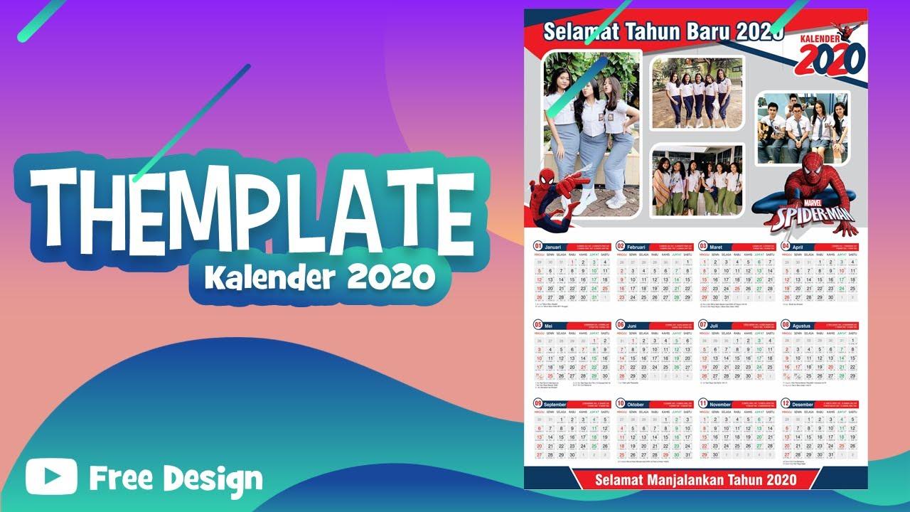 Template Kalender 2020 - YouTube