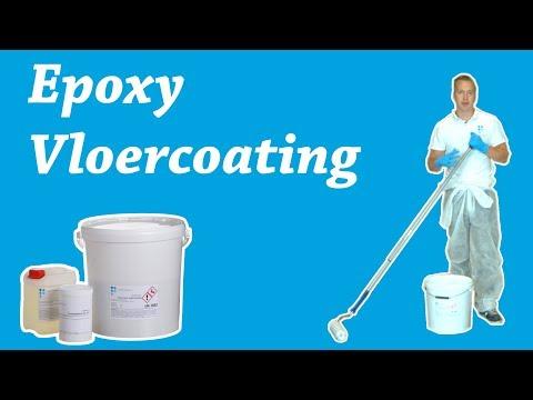 Epoxy vloercoating aanbrengen op een betonvloer