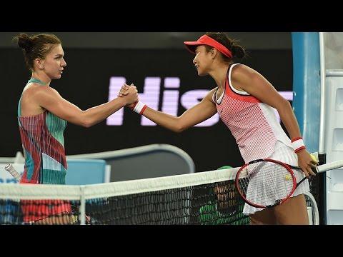 Simona Halep v Shuai Zhang highlights (1R) | Australian Open 2016