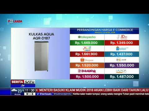 Perbandingan Harga E-Commerce: Kulkas Aqua AQR
