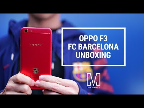 OPPO F3 Unboxing: FC Barcelona Limited Edition