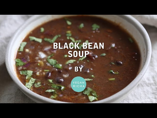 VEGAN BLACK BEAN SOUP INSTANT POT RECIPE | Vegan Richa Recipes