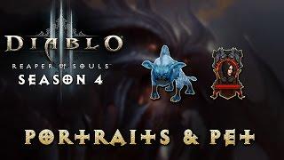 Diablo 3 - Season 4 Guide - Portraits and Pet