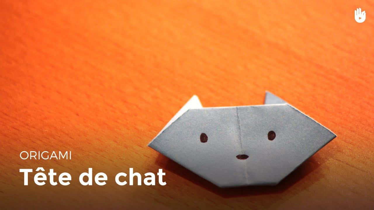 Origami t te de chat facile hd youtube - Video d origami facile ...