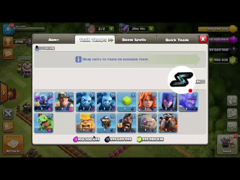 coc hack unlimited gems live stream