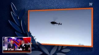 Rufus Gifford om dramatisk helikopter-entré