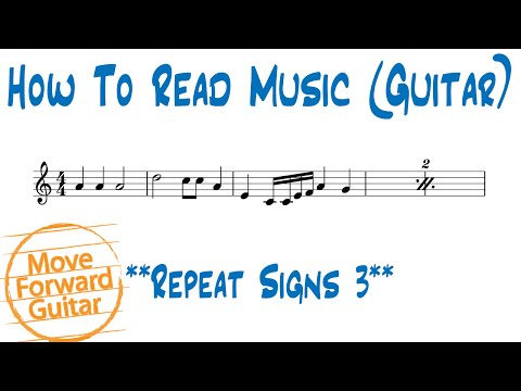 How to Read Music (Guitar) - Repeat Signs 3