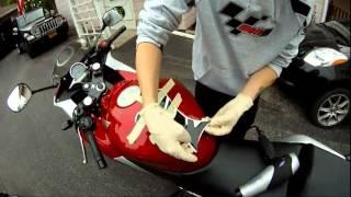 Stiker Tangki Motor Carbon Fiber Berkualitas YQU77 - KAL92