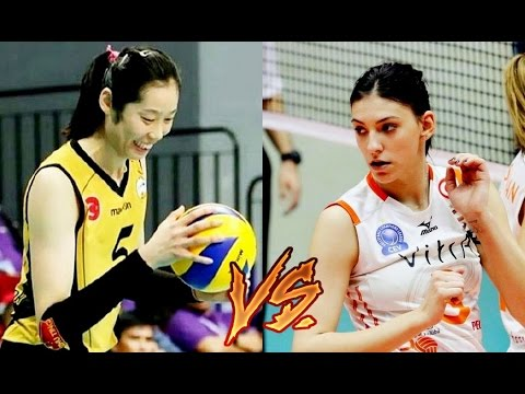 Zhu Ting vs. Tijana Boskovic @ 2017 CEV Champions League 1st round【Highlights】