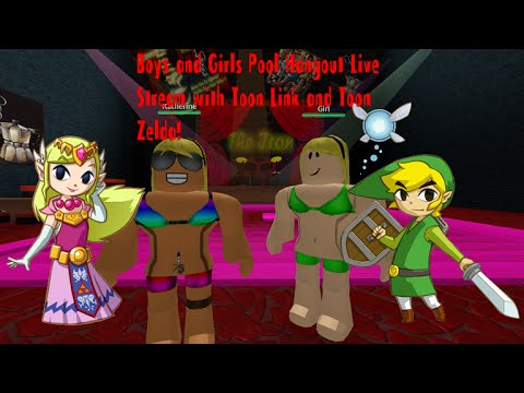 Roblox Boys & Girls Pool Hangout! Live Stream with Toon Link and Toon Zelda!
