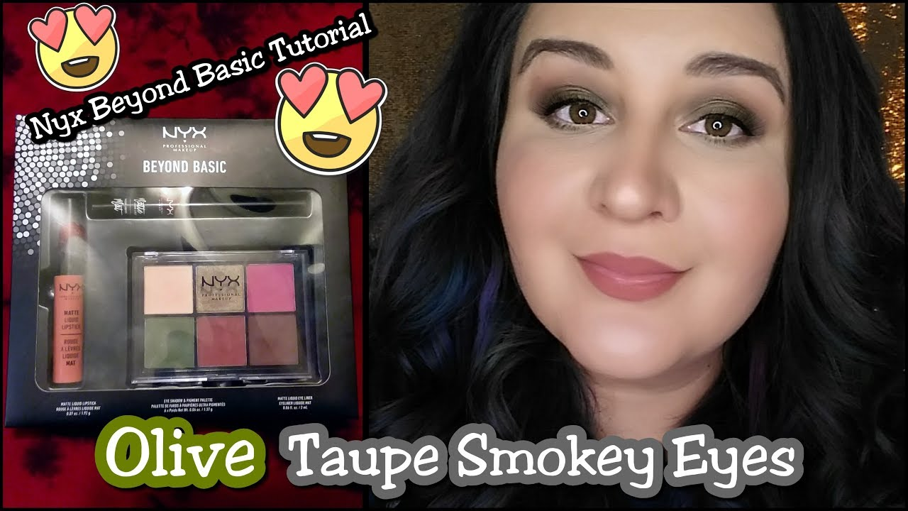0de6ef867c8 Olive Taupe Smokey Eyes // Nyx Beyond Basic Look Set 17 Tutorial. The Beauty  Saghah