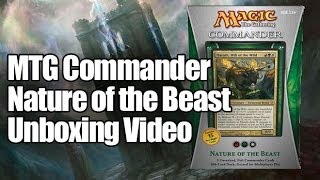 MTG Commander Deck 2013: Nature of the Beast Opening