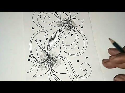 Sketsa Motif Batik Kontemporer 12 Youtube
