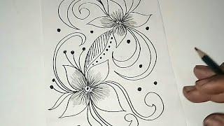 Sketsa Motif Batik Kontemporer 12