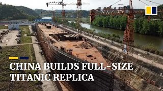 Download China builds full-scale Titanic ship replica in landlocked Sichuan as new tourist spot