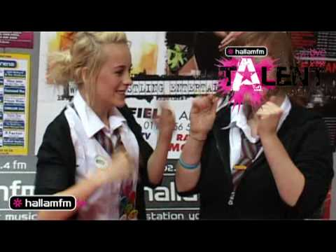 Hallam FM's Talent Academy - Emily & Grace - Silly Hand Slapping and Tongue Curling