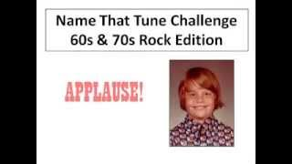 Name that Tune Challenge 60s and 70s Edition