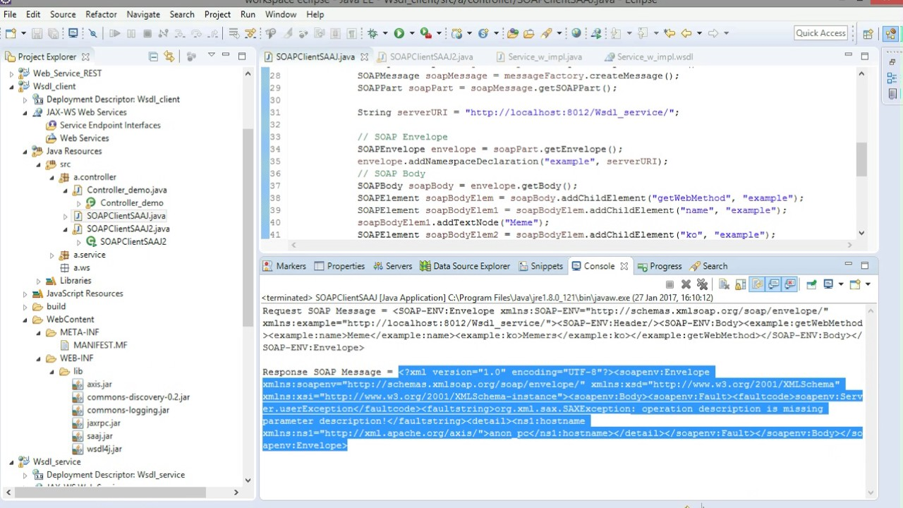 Using xml signature and encryption with wss.