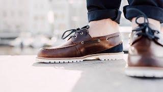 Test de la paire de chaussures bateau Pied de Biche