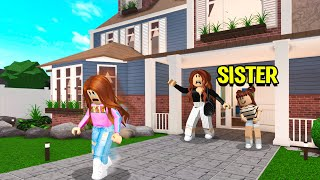 Mean Sister Made Our Mom Kick Me Out Of The House! (Roblox Bloxburg)