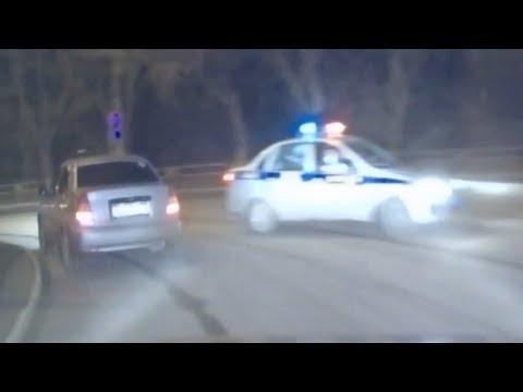 Пьяный лихач 15 мин. удирал от 5 экипажей ДПС. Real Video