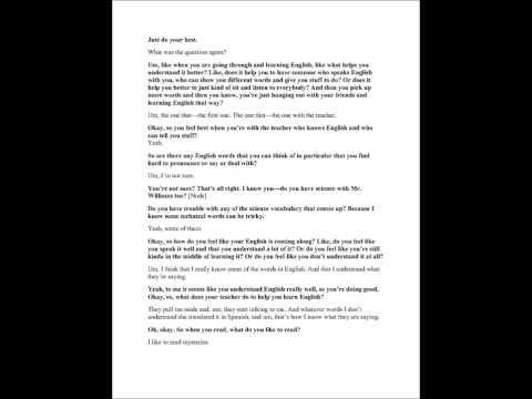 """Interview with """"Anna Martinez"""""""