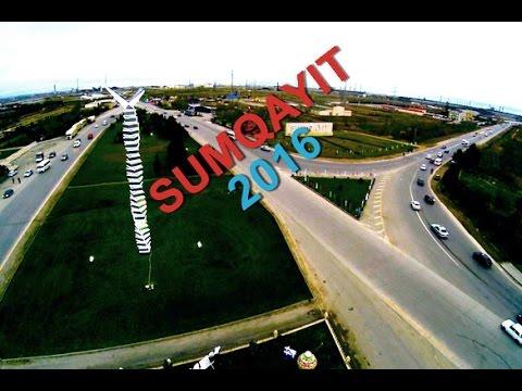 """Sumqayıt 2016 Helikopter ilə gecə görüntüsü  """"sizinmaraq.az"""""""