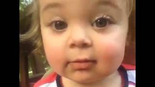 Cute Baby Discovers Her Eyebrows  FUNNY!