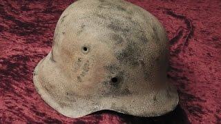 WW2 Relikte : Deutscher Waffen-SS Stahlhelm in Scheune gefunden ( Winterschlacht im Osten,WK2 )