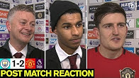 Solskjaer, Rashford & Maguire react to Derby win | Man City 1-2 Manchester United | Premier League