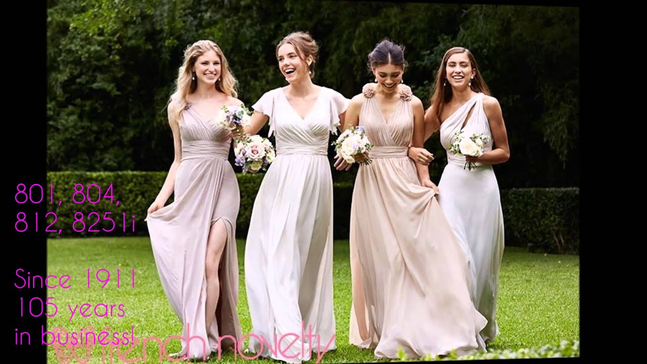 Mix and Match Wtoo Bridesmaid Dresses by Watters 2016 - YouTube