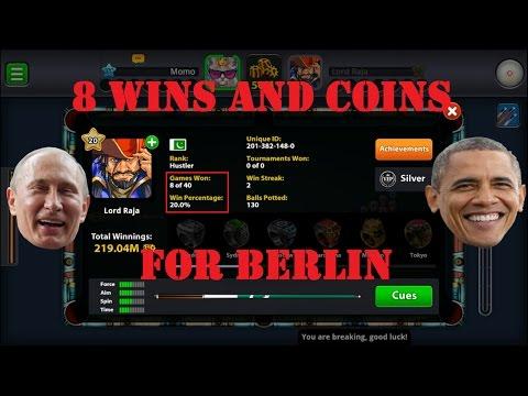 HACKER PUNISHED #2 WITH A BERLIN DENIAL😏 (ARCHANGEL CUE) -MINICLIP 8 BALL POOL