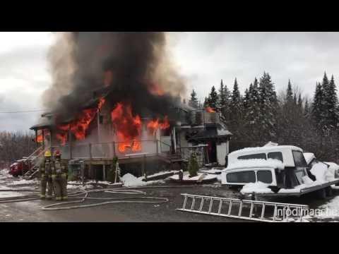 Incendie majeur à Saint François-Xavier-de-Viger