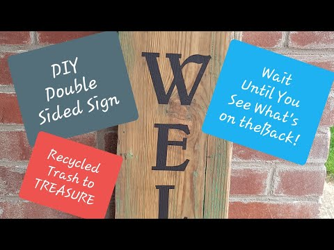 Double Sided Reclaimed Welcome/Nativity Wooden. Farmhouse Christmas   Cricut    Silhouette    Vinyl