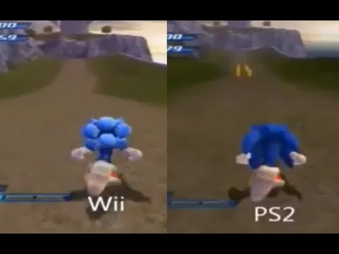 Sonic Unleashed - Wii Vs. PS2 Comparison