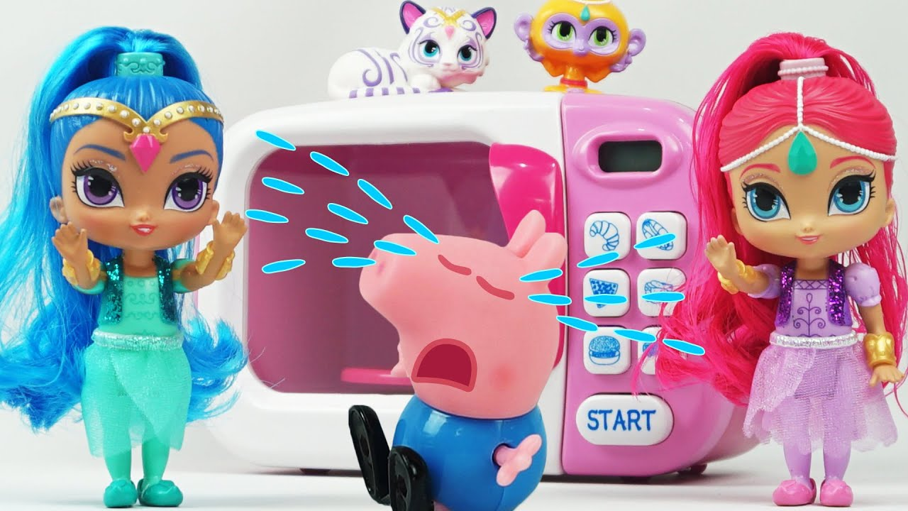 Shimmer and Shine Magic Play Doh Cooking Microwave Oven Playset with ...
