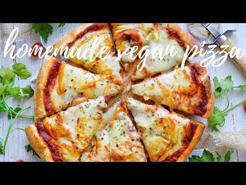 THE BASICS: HOMEMADE VEGAN PIZZA WITH THE BEST VEGAN MOZZARELLA [NUT FREE] | PLANTIFULLY BASED