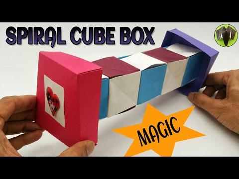 Magic Spiral Cube Box - DIY Tutorial by Paper Folds