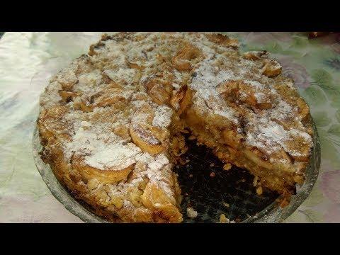 Необычный вкус. Пирог с овсянкой и яблоками) ВКУСНО!