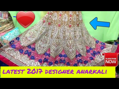New designer anarkali dresses wholesale | party wear anarkali suits 2017
