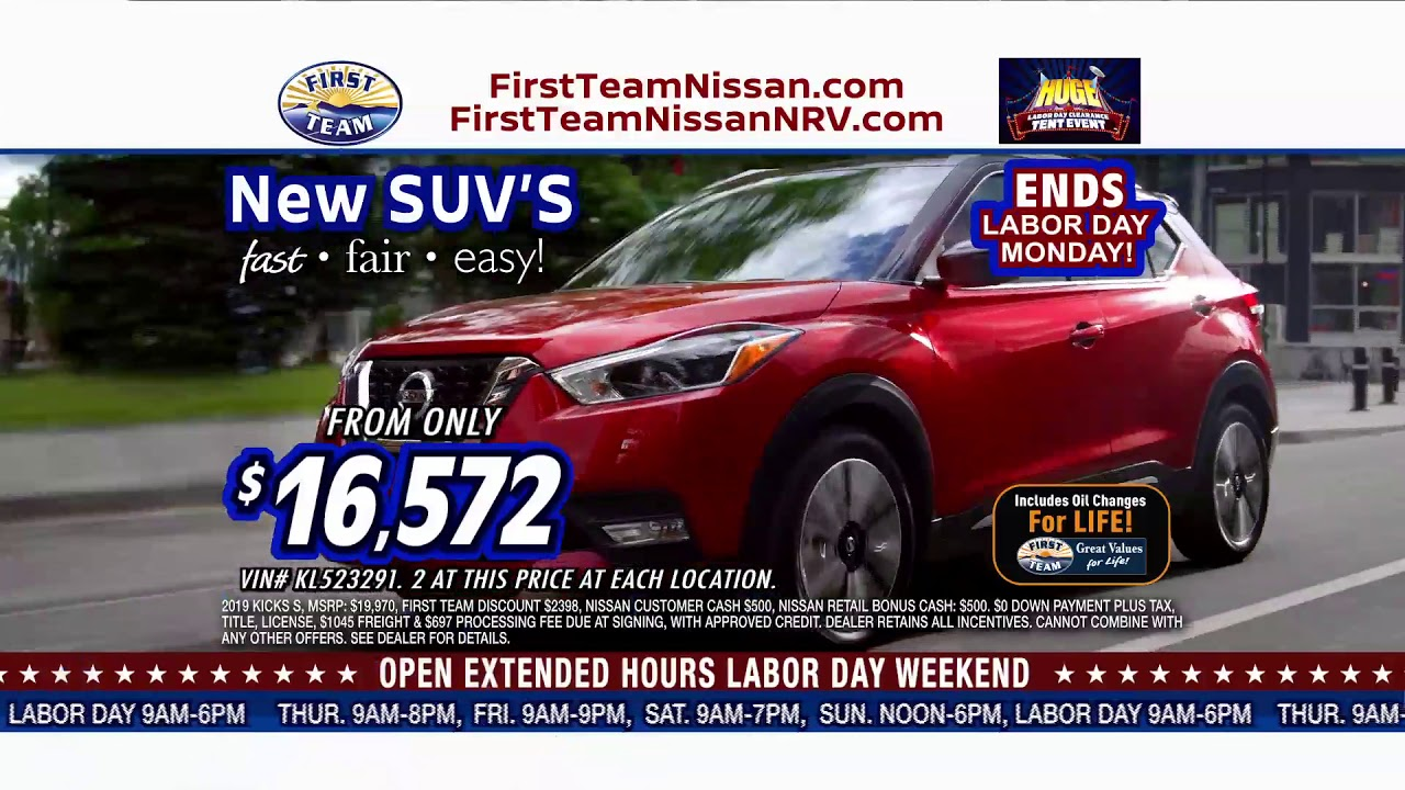 First Team Nissan >> First Team Nissan Labor Day Tent Event