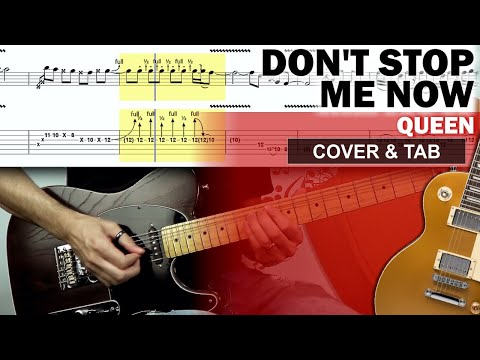 COVER & TAB: Don't Stop Me Now (Guitar Cover With Original Solo and Tabs)