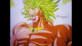 Let´s draw Broly [Dragon Ball Z] Speed drawing - TolgArt
