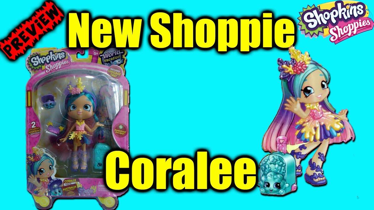 Shopkins Season 8 World Vacation Shoppie Doll CoraLee Sneak Peak Review Shopkin Videos