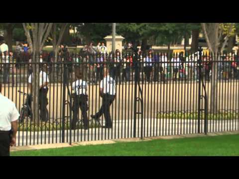 Raw: More Security Visible at White House